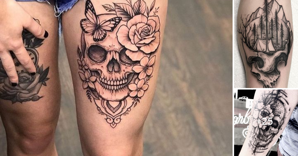 30 Imágenes de Tatuajes de Craneos y Calaveras