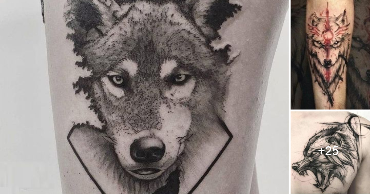35 Geniales Ideas de Tatuajes de Lobos