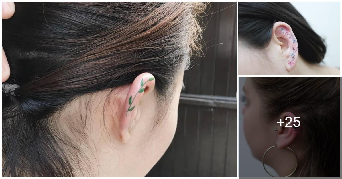Tatuajes en las Orejas son la Nueva Moda