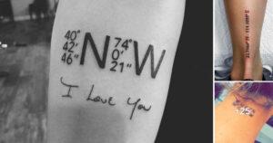 Ideas de Tatuajes con Coordenadas