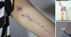 Ideas de Tatuajes de la Flor Iris