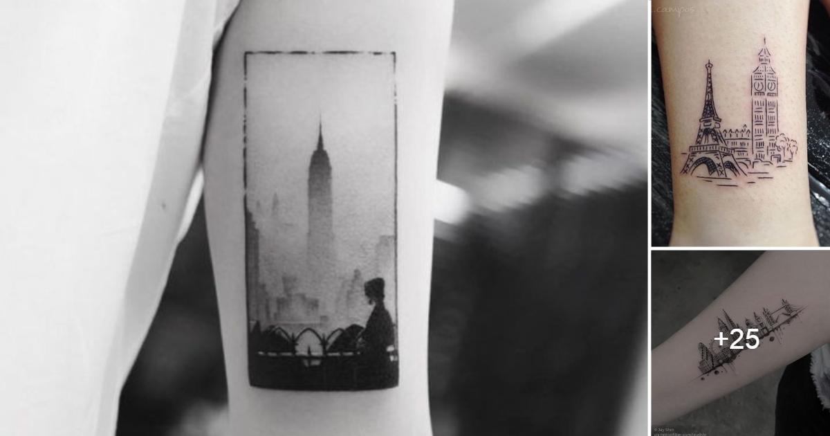 Ideas de Tatuajes inspiradas en paisajes de Ciudades