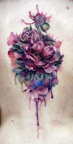 img 5a52d1004c3d4 Tatuajes de flores Moradas