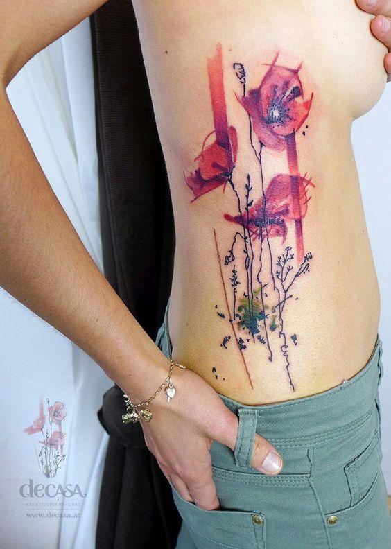 Tatuajes con Flores 3 Rosas Pequeñas