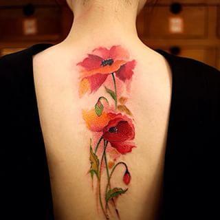 Tatuajes con Flores 5 Rosas Pequeñas