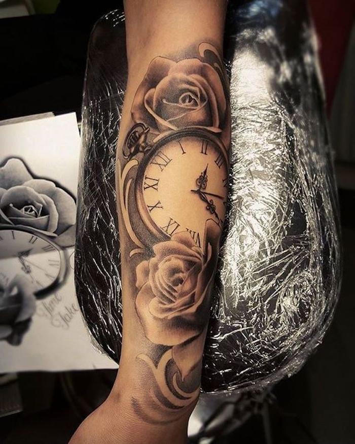 7 tattoo motive unterarm tätowieren rosen kompass blumen frau e1500039951462 25 tatuajes en brazos para mujeres