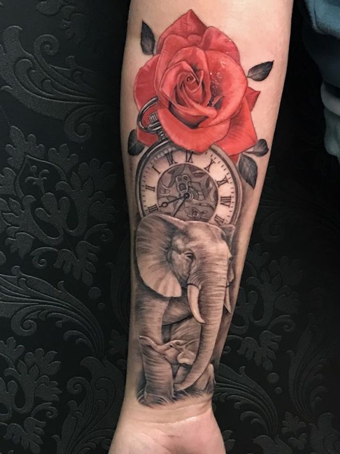 9 tattoos für frauen rote rose elephant kompass unterarm tätowieren 25 tatuajes en brazos para mujeres