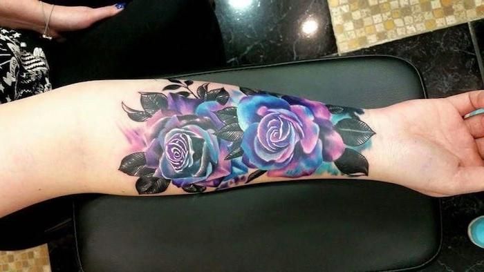 bliebteste tattoos galay rosen tattoo am unterarm tätowierung mit blumen e1500278424866 25 tatuajes en brazos para mujeres