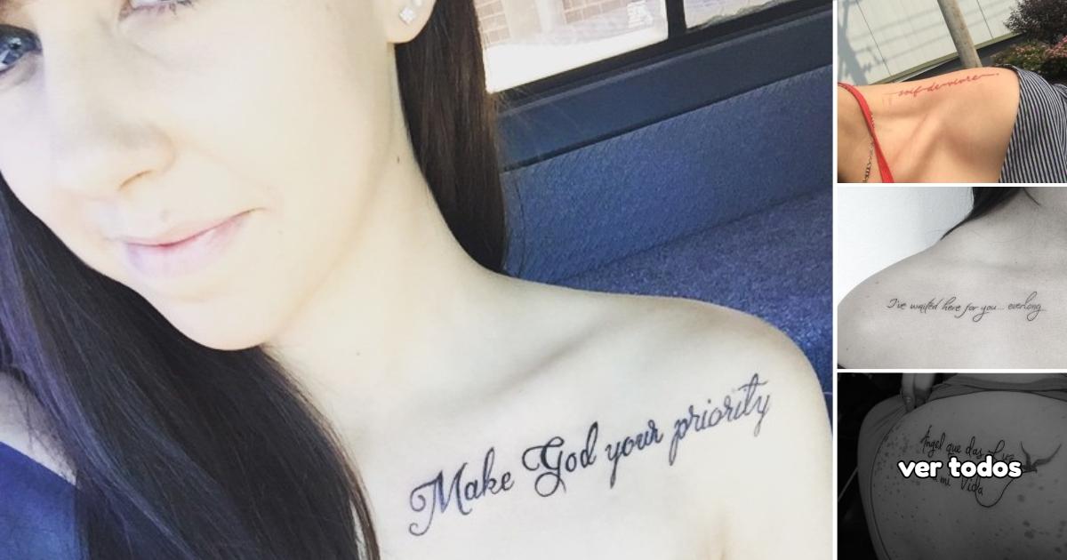 25 Ideas de Tatuajes con Frases en los Hombros