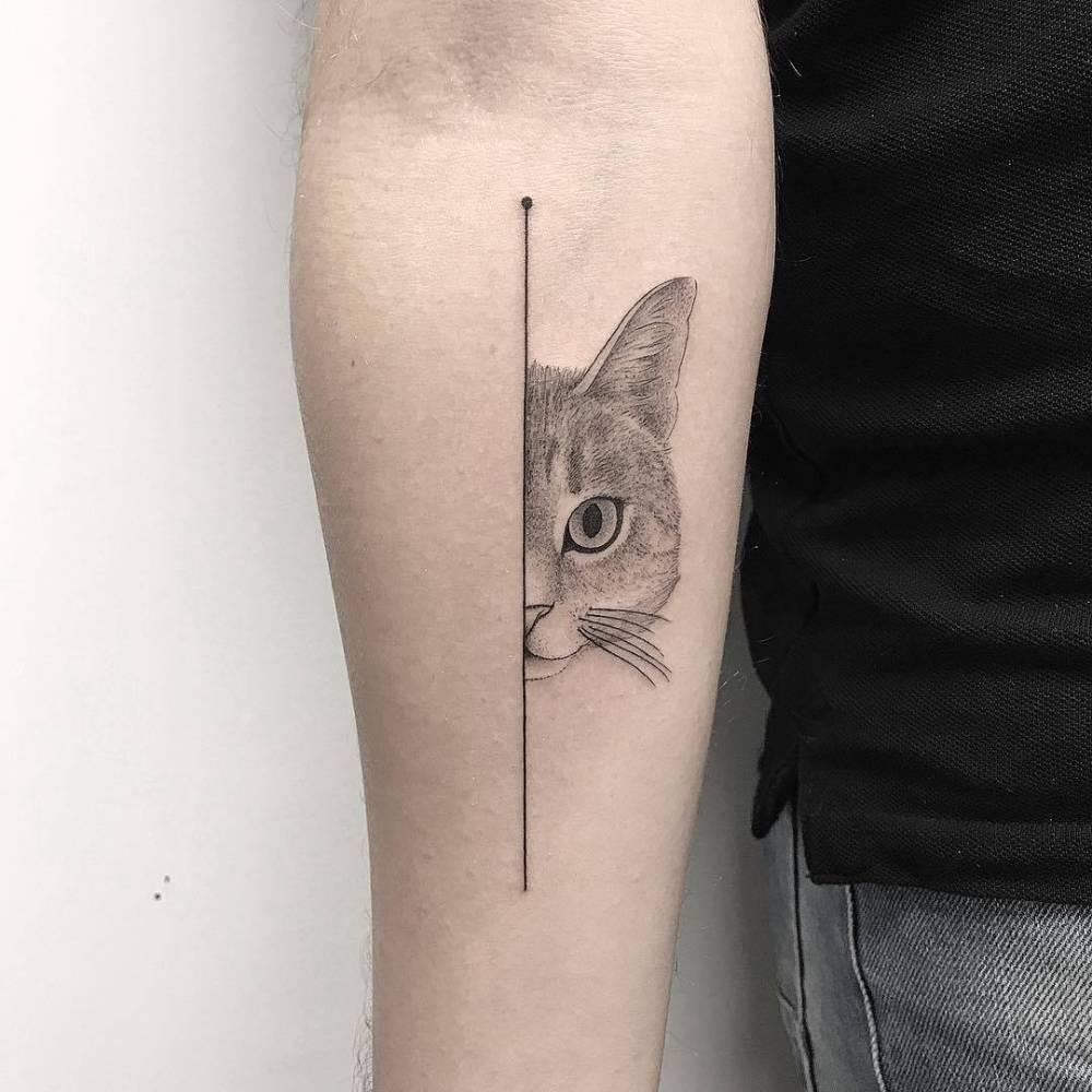 img 5aa420a9dda8a 20 Tatuajes de Felinos