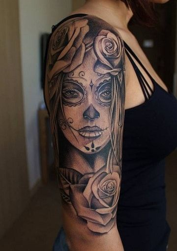 img 5aac6bf15a466 Tatuajes de Catrinas