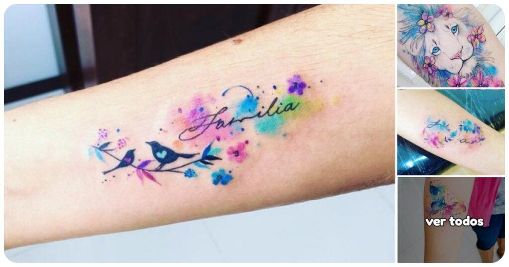 Ideas Geniales de Tatuajes en Tonos Acuarela