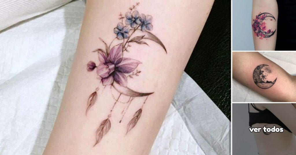 Ideas de Tatuajes de Lunas y Flores