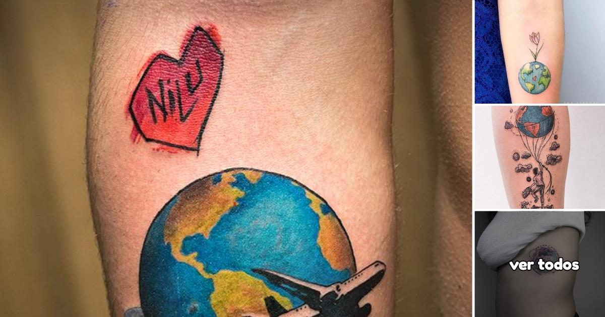 25 Ideas de Tatuajes inspirados en el Planeta Tierra