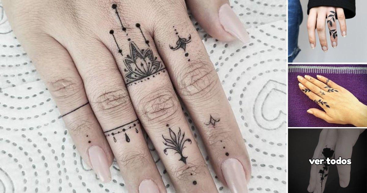 40 Ideas de Tatuajes en los dedos súper lindos