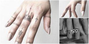 Tatuajes de dedos súper lindos