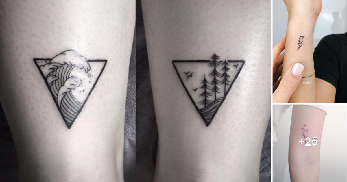 Pequeños pero lindos tatuajes minimalistas