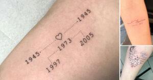 Diseños de tatuajes para conmemorar fechas importantes