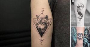Pequeños Tatuajes Inspirados en Lobos