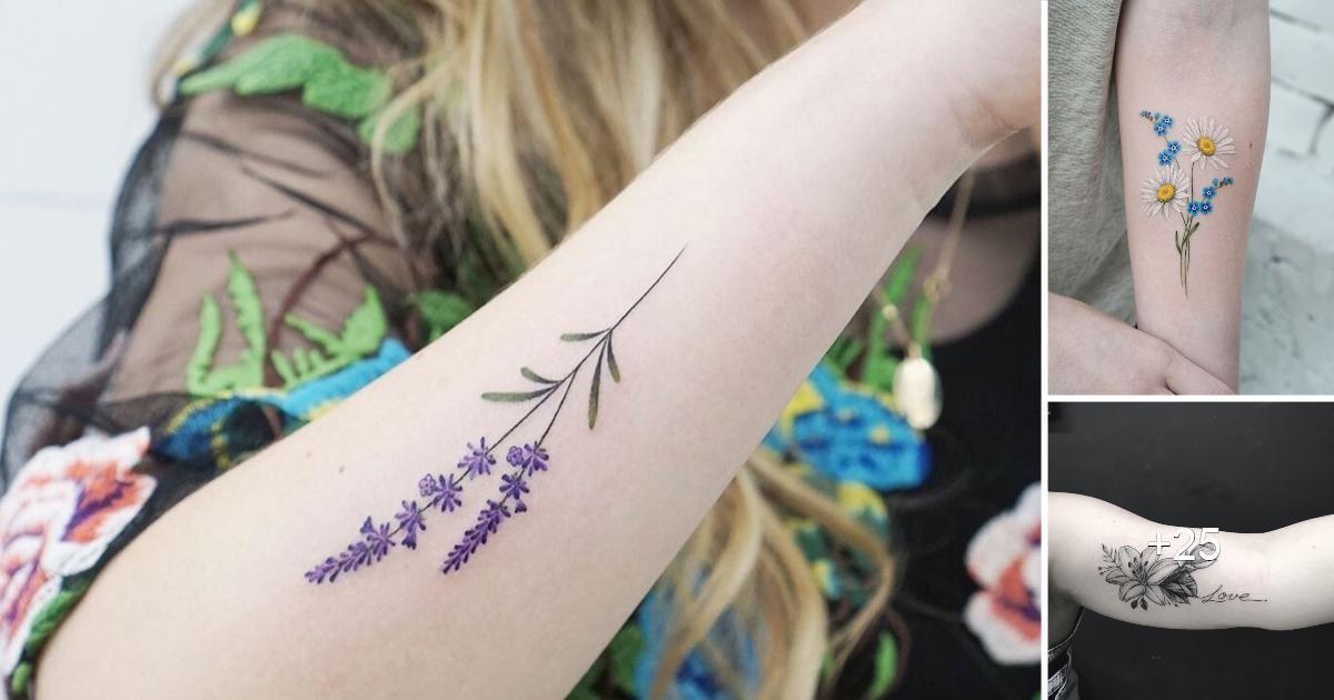 Tatuaje de flores en el brazo: 20 opciones para hacer de tu cuerpo un jardín