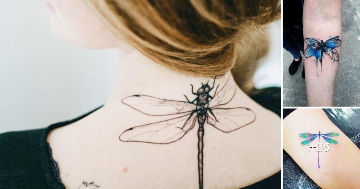 15 impresionantes diseños de tatuajes de libélulas
