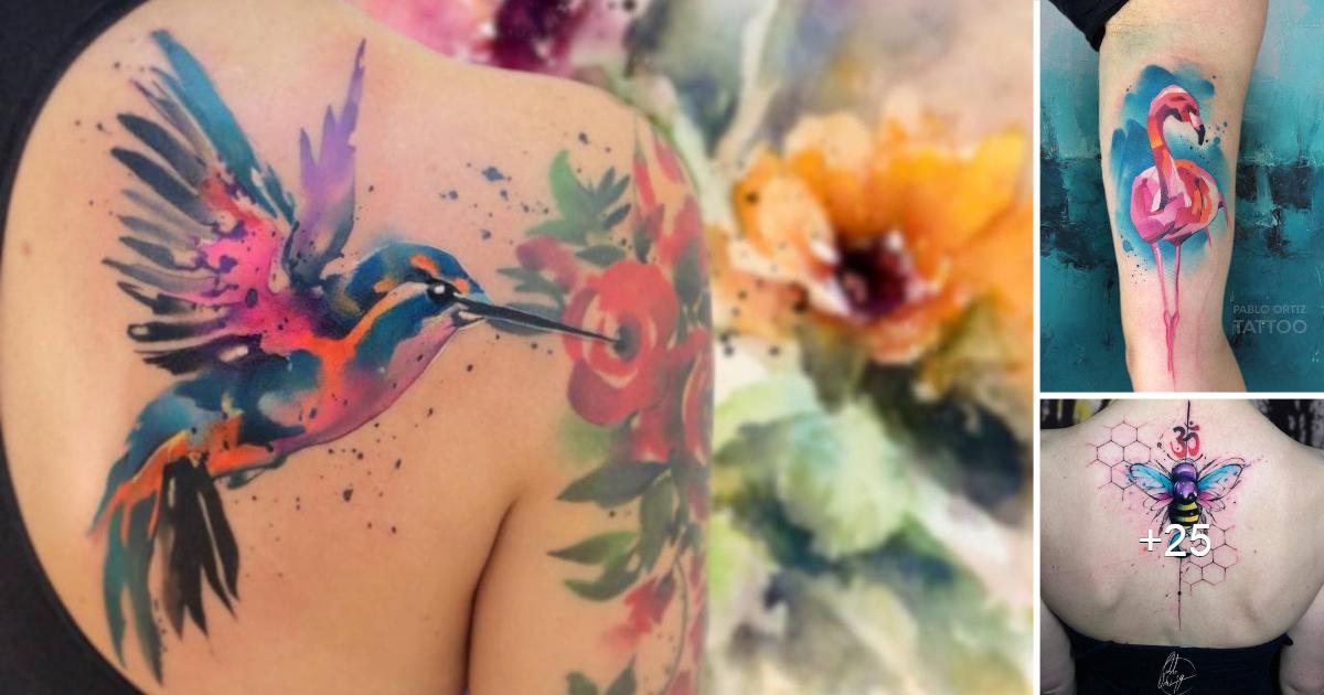 """Asombrosos y Coloridos Tatuajes Acuarela por """"Pablo Ortiz"""""""