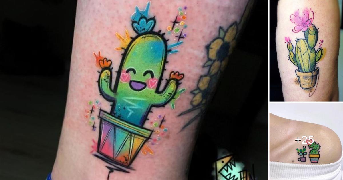 12 hermosas ideas de tatuajes de cactus pequeños