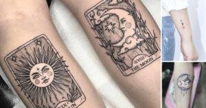 Las Mejores Ideas de tatuajes de sol y luna y su Significado
