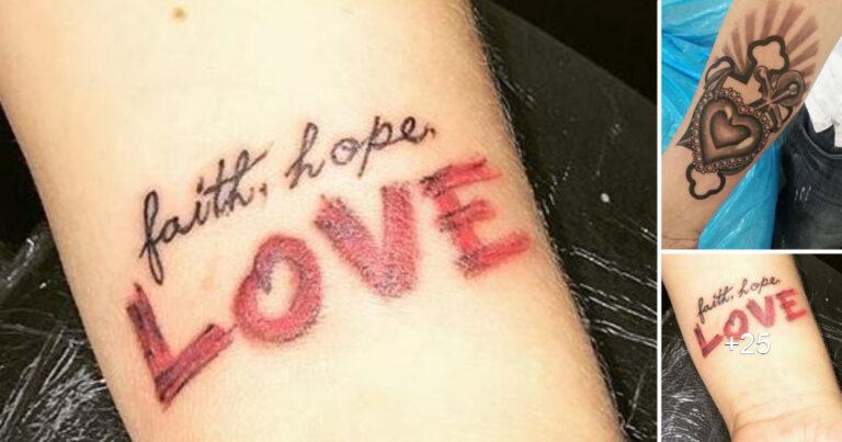 Tatuajes inspirados en la Fe, en el Amor y la Esperanza