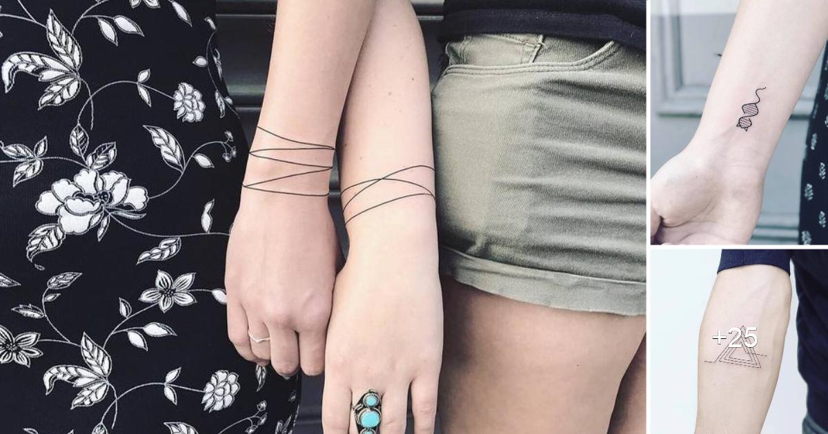 "30 Tatuajes Geométricos Minimalistas de ""LAURA MARTÍNEZ"""
