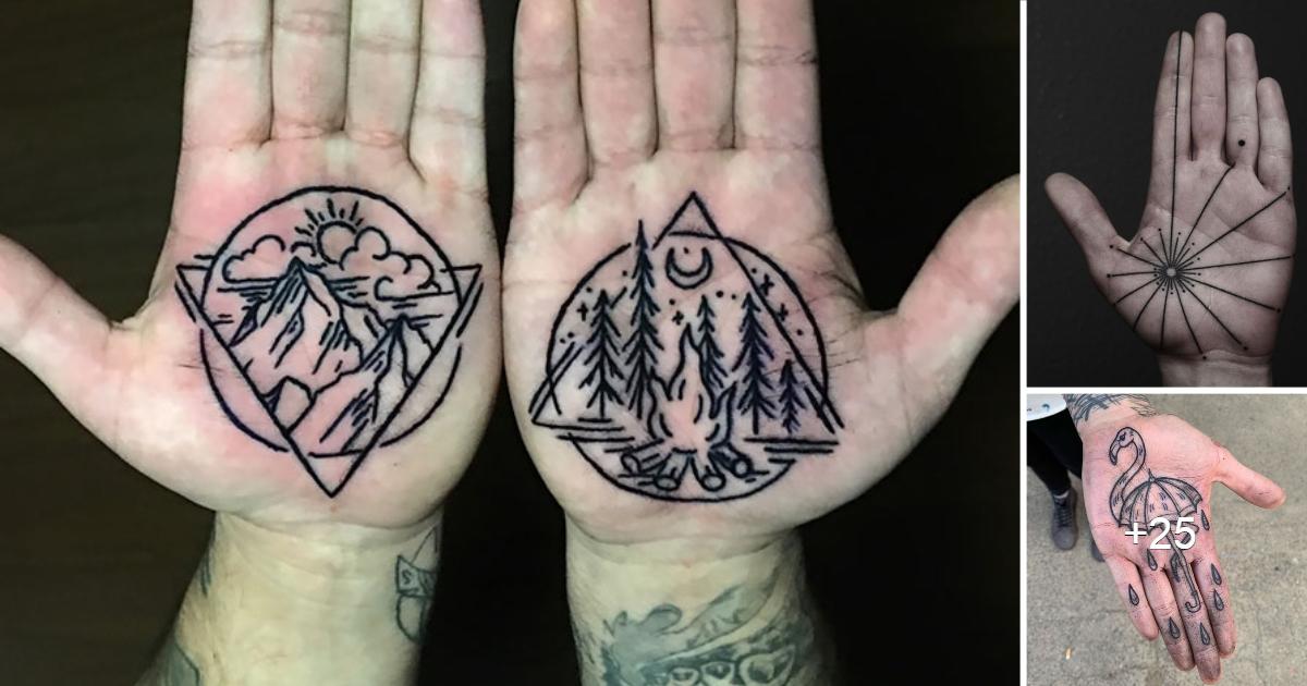20 de los mejores tatuajes en las palmas de las manos