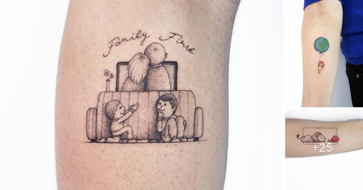 Más de 30 tatuajes pequeños y adorables de Ahmet Cambaz de Estambul
