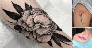 25 Diseños de Tatuajes de Clavel que Necesitas Ver