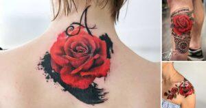 Las 31 mejores ideas de tatuajes de rosas rojas (Significados)