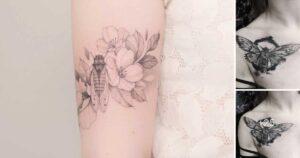 25 Tatuajes de Cigarras: Cambio, Transformación o Renacimiento