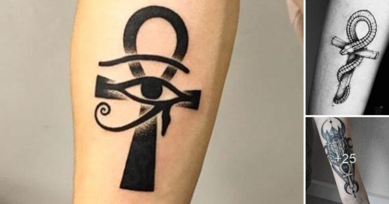 """Los 23 Mejores Diseños de Tatuajes de """"ANKH"""" La Cruz Egipcia"""